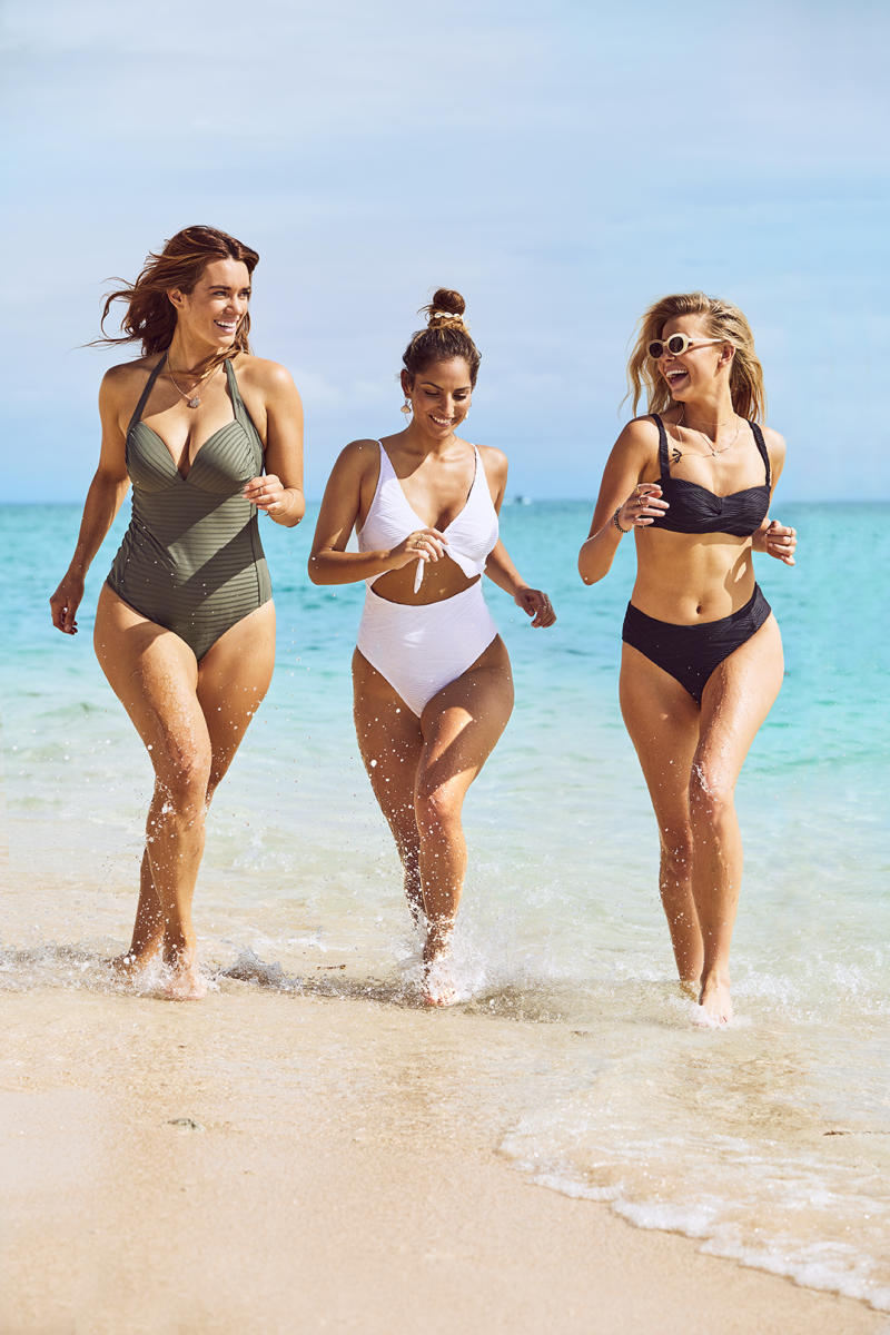 Laura Wells, Jade Tuncdoruk and Tegan Martin in the 'Meet Me In Paradise' campaign. Photo: Supplied/Bras N Things