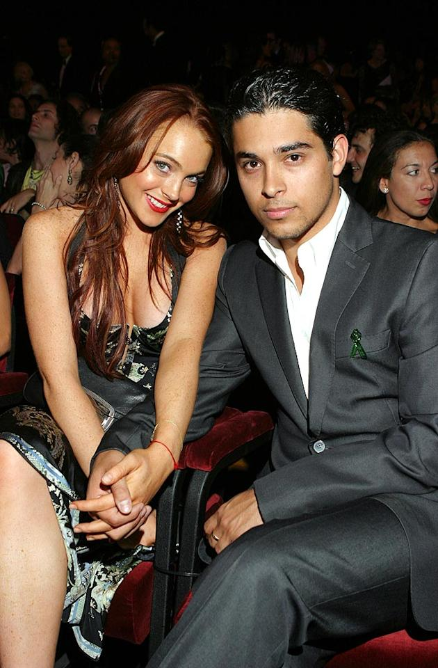 "After going public with their relationship on Lindsay's 18th birthday in July, the ""Herbie: Fully Loaded"" actress broke up with her ""first love,"" ""That '70s Show"" star Wilmer Valderrama, just four months later due to his flirty ways. Arnold Turner/<a href=""http://www.wireimage.com"" target=""new"">WireImage.com</a> - September 1, 2004"