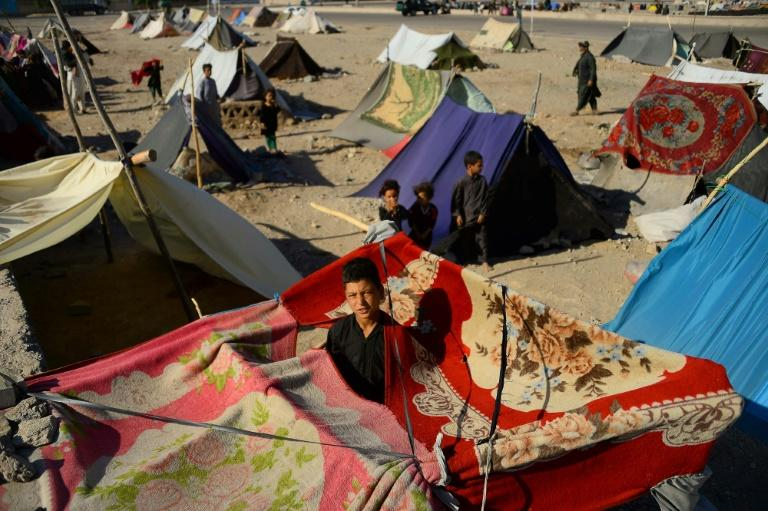 Many displaced by the drought have set up makeshift camps on the edge of urban centres
