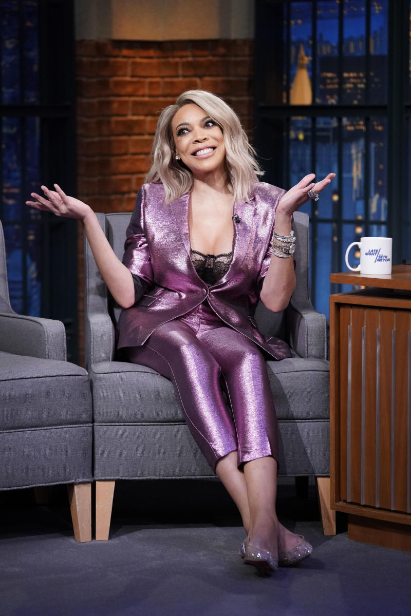 Wendy Williams in a purple suit