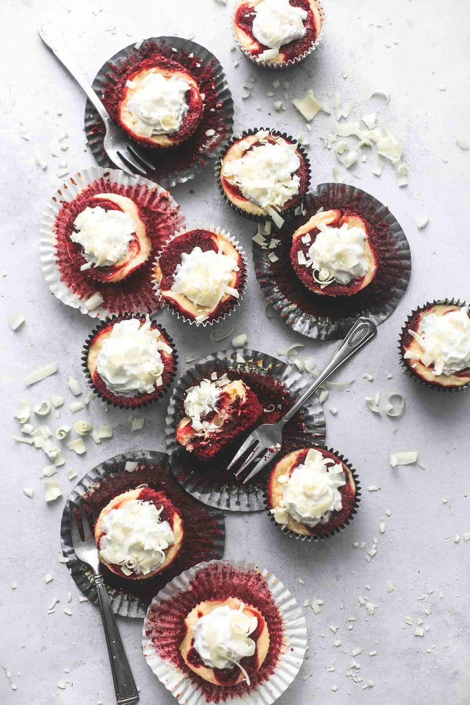 "<p>Enjoy a rich bite of cheesecake without filling up, so you can still sample all the other desserts!</p><p><strong>Get the recipe at <a href=""https://www.lecremedelacrumb.com/red-velvet-cheesecake-bites/"" rel=""nofollow noopener"" target=""_blank"" data-ylk=""slk:Creme de la Crumb"" class=""link rapid-noclick-resp"">Creme de la Crumb</a>.</strong></p><p><strong><a class=""link rapid-noclick-resp"" href=""https://www.amazon.com/DmofwHi-Electric-Kitchen-Stainless-Attachments/dp/B07GPRHGM4/?tag=syn-yahoo-20&ascsubtag=%5Bartid%7C10050.g.1138%5Bsrc%7Cyahoo-us"" rel=""nofollow noopener"" target=""_blank"" data-ylk=""slk:SHOP HAND MIXERS"">SHOP HAND MIXERS</a><br></strong></p>"