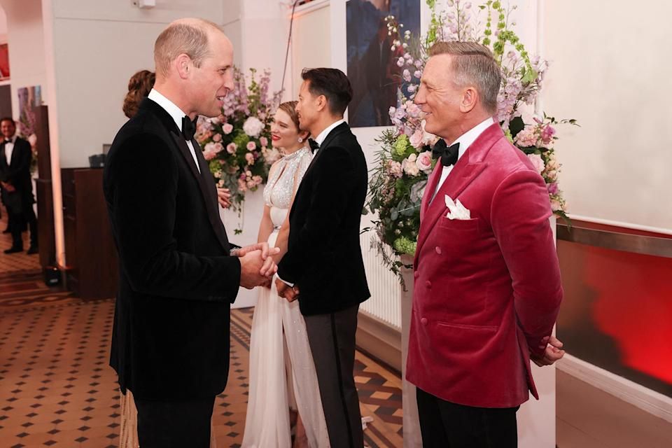 <p>William, who has been President of The British Academy of Film and Television Arts (BAFTA) since February 2010, also caught up with Craig, whom he has met at past premieres. </p>