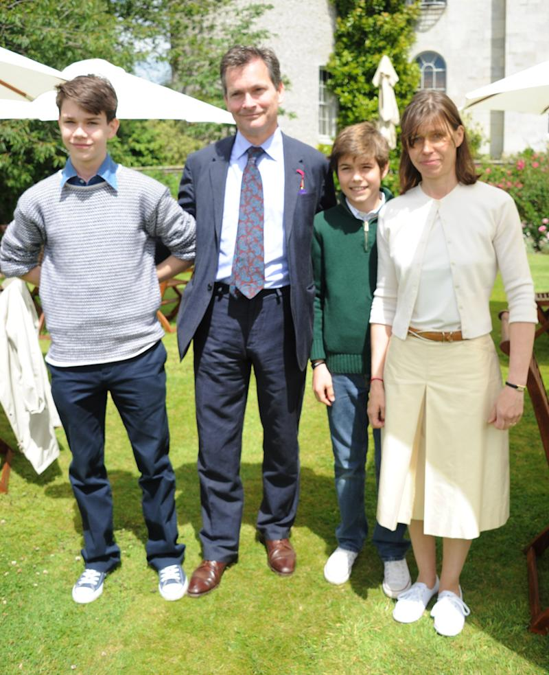 CHICHESTER, ENGLAND - JULY 01: (EMBARGOED FOR PUBLICATION IN UK TABLOID NEWSPAPERS UNTIL 48 HOURS AFTER CREATE DATE AND TIME. MANDATORY CREDIT PHOTO BY DAVE M. BENETT/GETTY IMAGES REQUIRED) Samuel Chatto, Daniel Chatto, Arthur Chatto and Lady Sarah Chatto attend the Cartier Style & Luxury Lunch at the Goodwood Festival of Speed on July 1, 2012 in Chichester, England. (Photo by Dave M. Benett/Getty Images)
