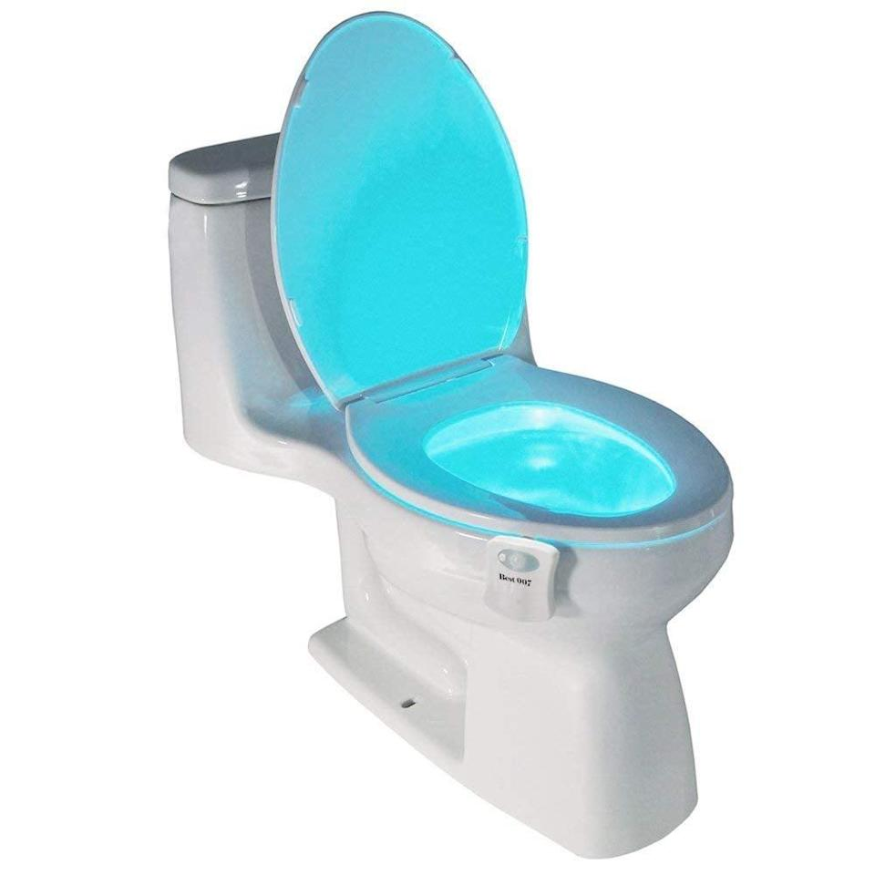 """<p>Don't fumble around in the dark anymore with this <a href=""""https://www.popsugar.com/buy/Best-Light-Motion-Activated-Toilet-Night-Light-427810?p_name=Best%20Light%20Motion%20Activated%20Toilet%20Night%20Light&retailer=amazon.com&pid=427810&price=10&evar1=casa%3Aus&evar9=46738291&evar98=https%3A%2F%2Fwww.popsugar.com%2Fhome%2Fphoto-gallery%2F46738291%2Fimage%2F46741977%2FBest-Light-Motion-Activated-Toilet-Night-Light&list1=shopping%2Camazon%2Chome%20shopping&prop13=mobile&pdata=1"""" class=""""link rapid-noclick-resp"""" rel=""""nofollow noopener"""" target=""""_blank"""" data-ylk=""""slk:Best Light Motion Activated Toilet Night Light"""">Best Light Motion Activated Toilet Night Light</a> ($10).</p>"""