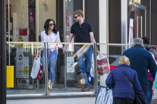 """Harry and Meghan"" were spotted Christmas shopping. (Photo: SWNS)"