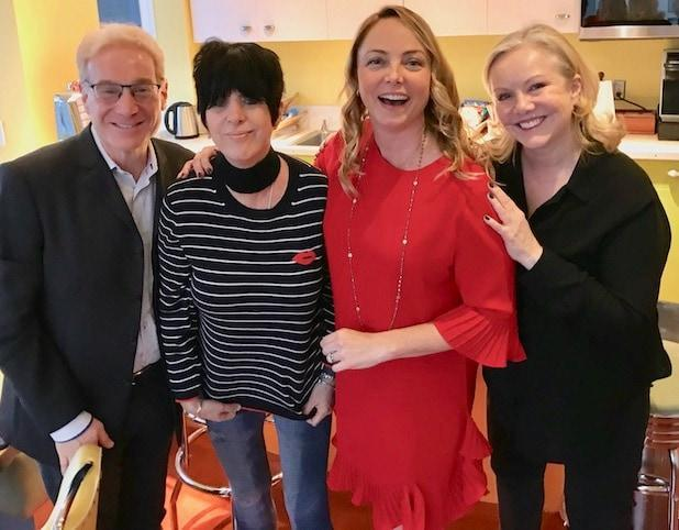 Howard Kagan, Diane Warren, Louisette Geiss, Susan Stroman at 2020 rehearsal