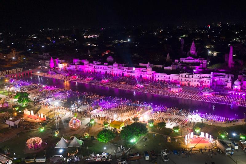 Decked-up Ayodhya Awaits Its Big Day with PM Modi Set to Lay Down First Brick of Ram Temple