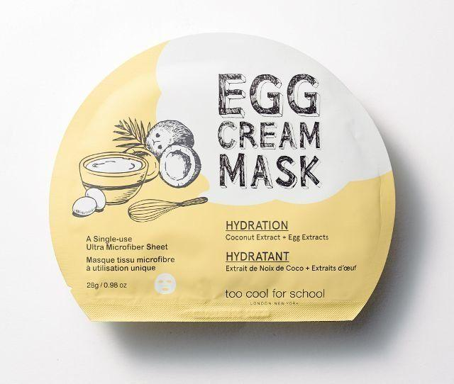 """If you're familiar with Korean skincare, you know egg cream is a must-have. It not only hydrates, but brightens and is great for uneven or dull texture. Get it <a href=""""https://www.sephora.com/product/egg-cream-sheet-mask-P400284?skuId=1734680&icid2=k_beauty_lp_sheet_masks_skugrid_us:p400284"""" target=""""_blank"""">here</a>."""