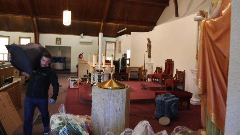 Suspect arrested in Easter Sunday fire at Roman Catholic church