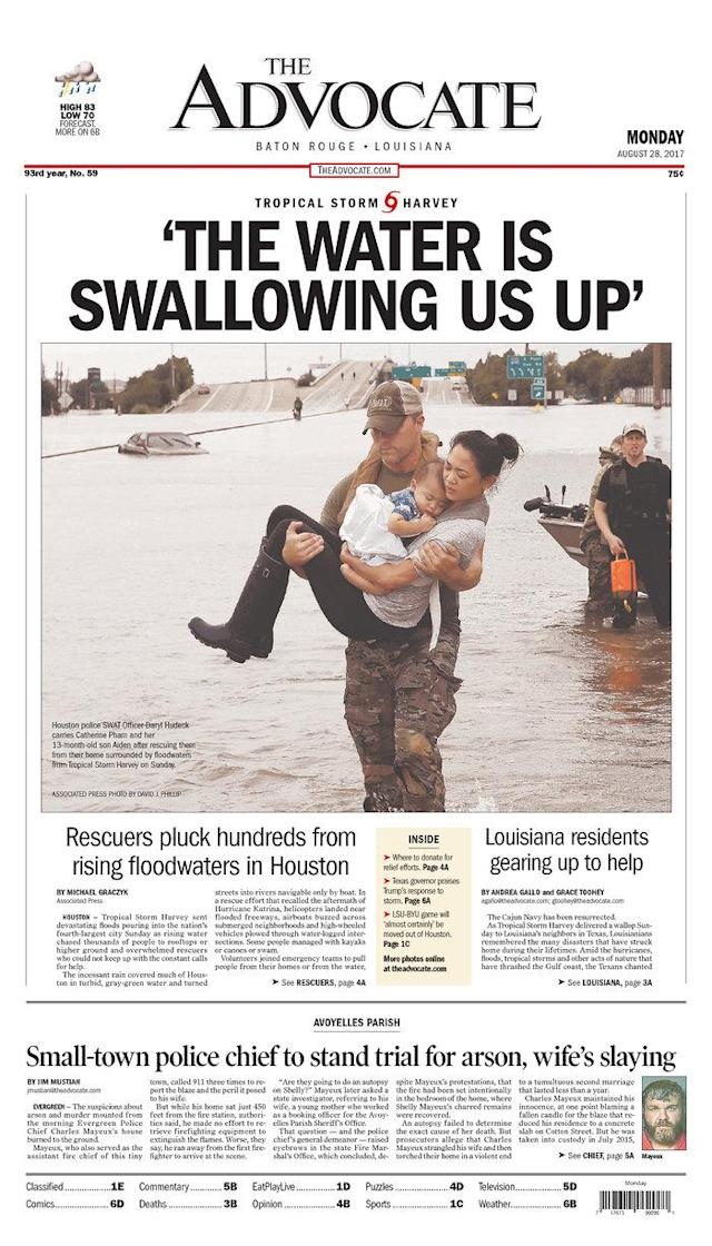 <p>The Advocate<br> Published in Baton Rouge, La. USA. (newseum.org) </p>