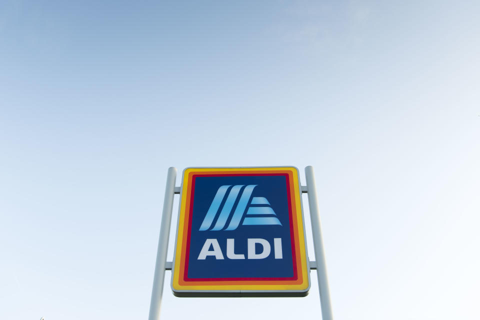 CARDIFF, UNITED KINGDOM - SEPTEMBER 05: An Aldi store sign on September 5, 2019 in Cardiff, United Kingdom. (Photo by Matthew Horwood/Getty Images)
