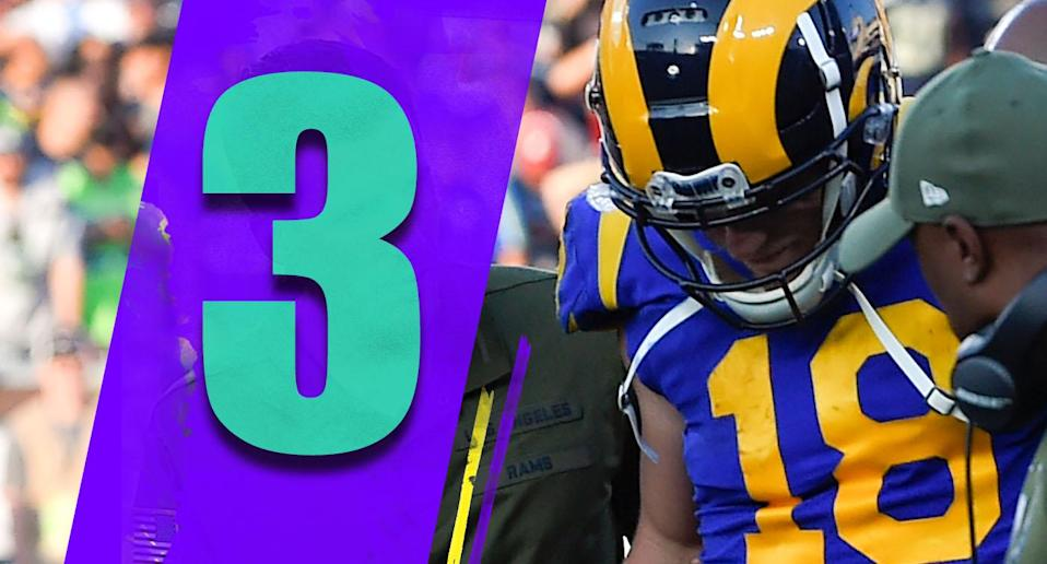 <p>Cooper Kupp's ACL injury is a big blow. The Rams average 124 fewer passing yards per game without Kupp this season. It's hard to replace what he can do. (Cooper Kupp), AP </p>
