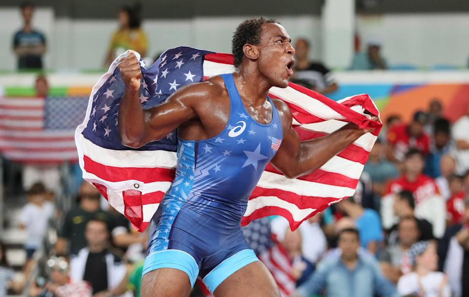 J'den Cox won bronze at the 2016 Olympics in Rio.
