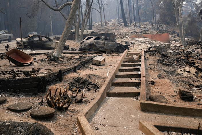 Vehicles and homes have been burned in the CZU Lightning Complex Fire in Boulder Creek, Calif.