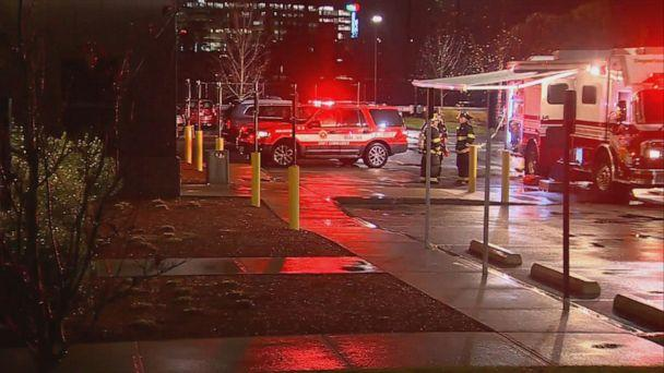 PHOTO: A chemical incident at a Buffalo Wild Wings restaurant in Burlington, Mass, on Nov. 7, 2019. (WCVB)