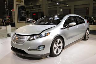FILE - In this Jan. 26, 2010 file photo, the Chevy Volt appears on display at the Washington Auto Show, in Washington. (AP Photo/J. Scott Applewhite, File)
