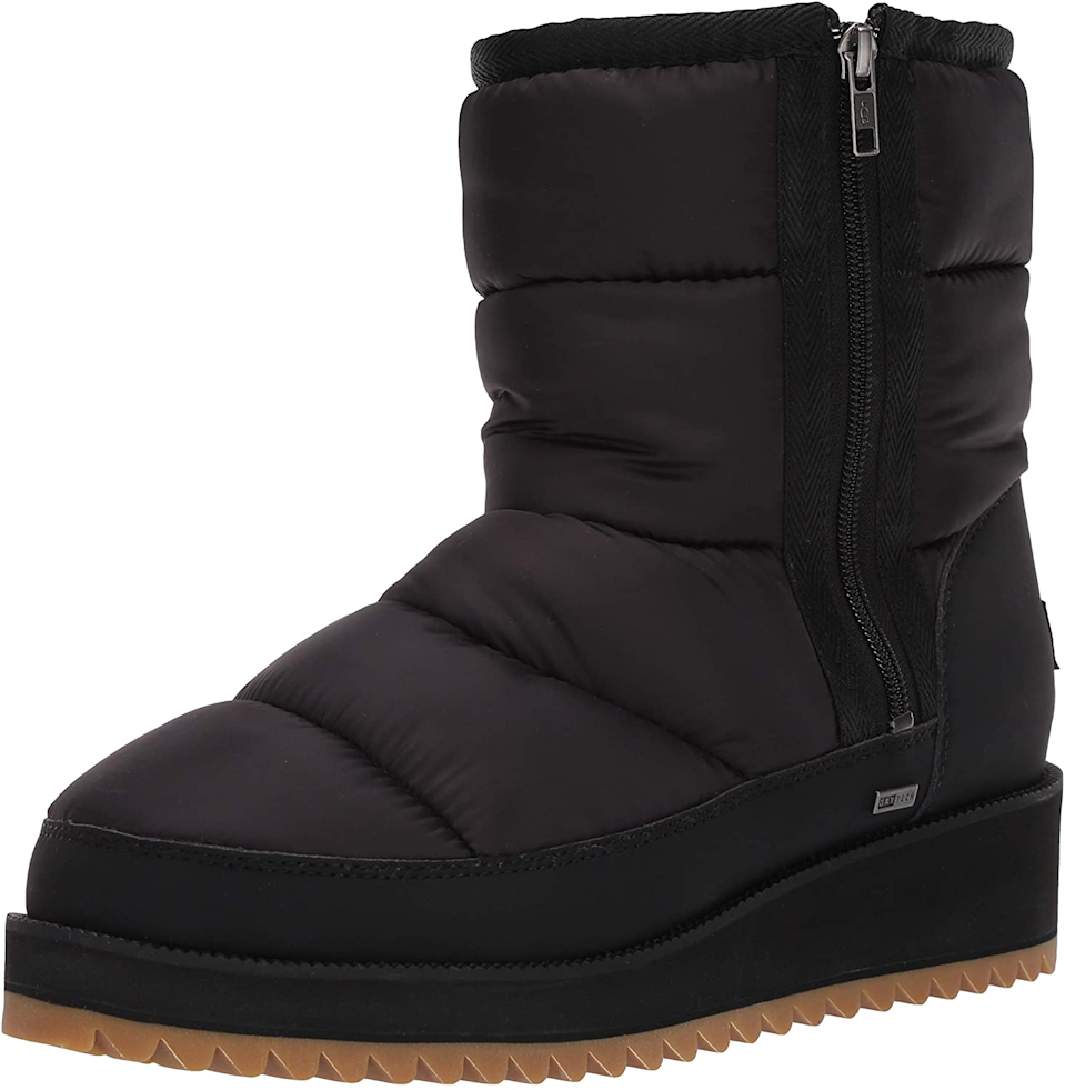 "<br><br><strong>Ugg</strong> Ridge Boot, $, available at <a href=""https://www.amazon.com/UGG-Womens-Ridge-Snow-Black/dp/B07NBQ9NQW/ref=sr_1_2?dchild=1&keywords=UGG+Women%27s+Ridge+Boot&qid=1611681994&s=apparel&sr=1-2"" rel=""nofollow noopener"" target=""_blank"" data-ylk=""slk:Amazon"" class=""link rapid-noclick-resp"">Amazon</a>"
