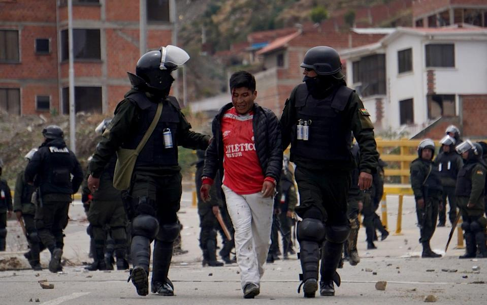 Supporters of Evo Morales clash with police in La Paz - Getty Images South America