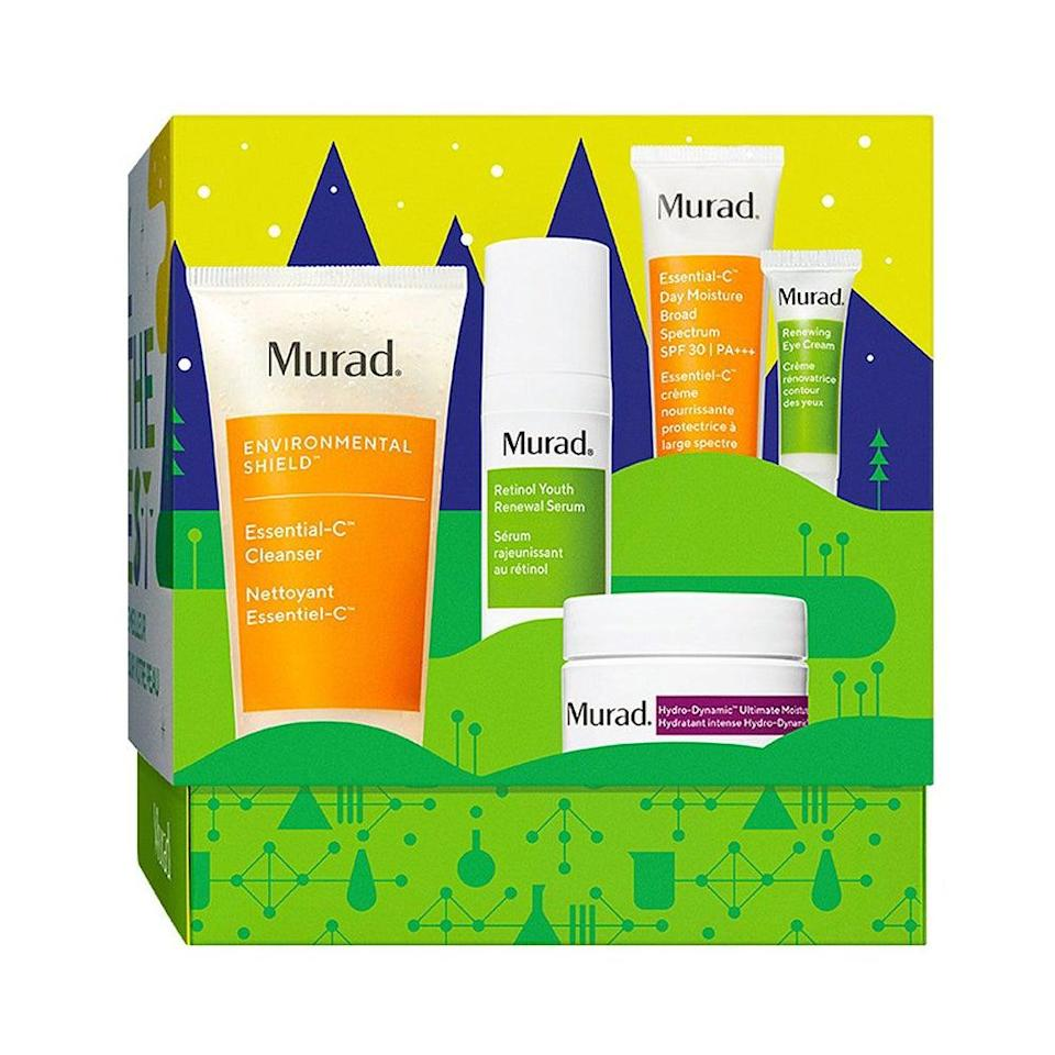 "<h3>Murad All The Best Kit</h3> <br> Get glowing with Murad's holiday kit featuring four brightening MVPs: A vitamin C-infused cleanser and SPF moisturizer, plus a retinol serum and eye cream. <br> <br> <strong>Murad</strong> All the Best Kit, $, available at <a href=""https://go.skimresources.com/?id=30283X879131&amp;url=https%3A%2F%2Fwww.ulta.com%2Fall-best-kit%3FproductId%3Dpimprod2019687"" rel=""nofollow noopener"" target=""_blank"" data-ylk=""slk:Ulta Beauty"" class=""link rapid-noclick-resp"">Ulta Beauty</a>"