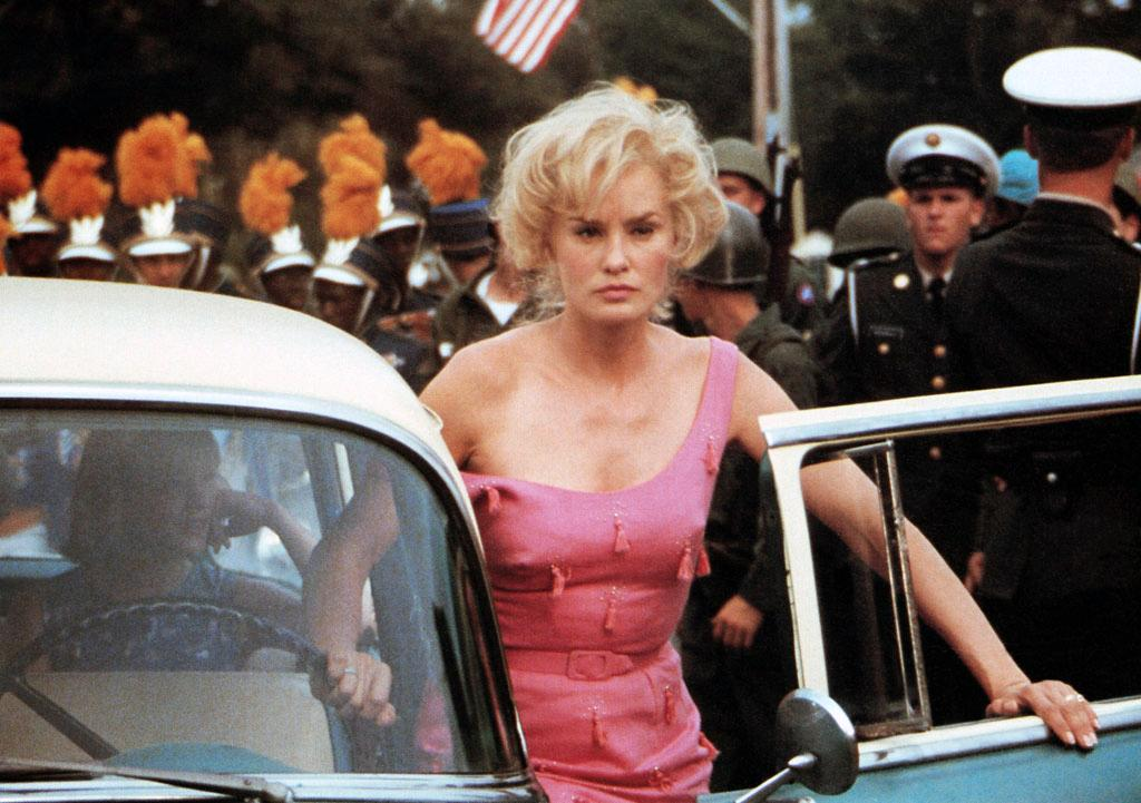 """Jessica Lange, Best Actress, 'Blue Sky' (1994)  Jessica Lange has won two Oscars for portraying women with a drinking problem. As a daytime-television star in """"Tootsie"""" (1982), Lange enjoyed one glass of wine too many. As an Army wife in """"Blue Sky,"""" Lange's alcoholism causes problems for her nuclear scientist husband (Tommy Lee Jones)."""
