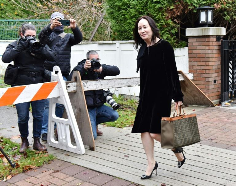 Huawei Chief Financial Officer, Meng Wanzhou, leaves her Vancouver home to appear in British Columbia Supreme Court, in Vancouver, British Colombia on November 16, 2020