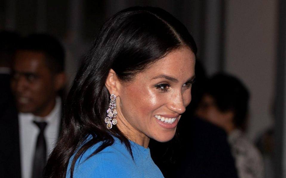 The Chopard earrings worn by the Duchess - REUTERS