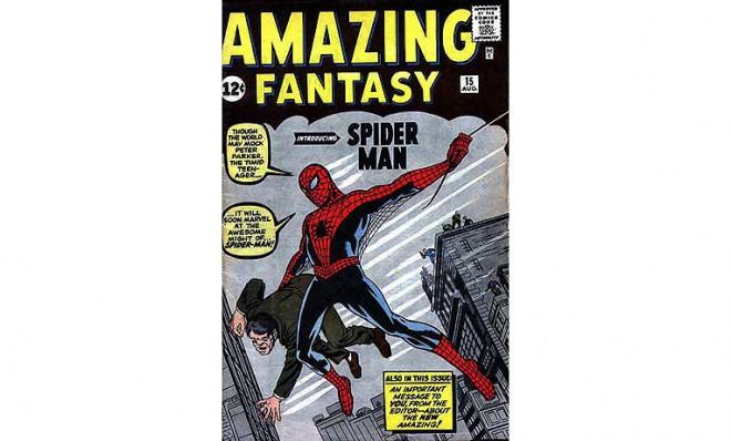 Amazing Fantasy #15, featuring the first-ever appearance by a fellow named Spider-Man.