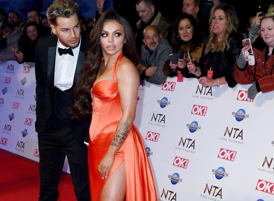 Chris Hughes attended the NTAs to support girlfriend Jesy Nelson (Credit: Getty Images)