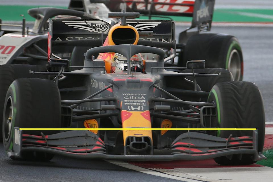 """More details of the Red Bull's front wing<span class=""""copyright"""">Motorsport.com</span>"""