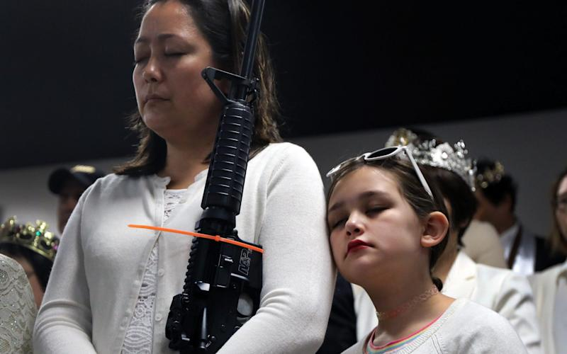 The controversial church believes the AR-15 symbolizes the 'rod of iron' - Getty Images North America