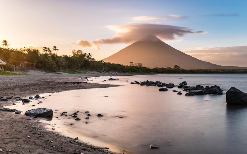 Nicaragua has dramatic volcanic scenery - This content is subject to copyright.