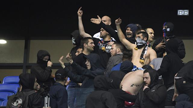 Several Alcala supporters leapt the security fence to assault players of the visiting outfit following a 1-0 defeat