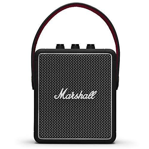 "<p><strong>Marshall</strong></p><p>amazon.com</p><p><strong>$189.90</strong></p><p><a href=""https://www.amazon.com/dp/B07Q12WDP2?tag=syn-yahoo-20&ascsubtag=%5Bartid%7C2089.g.34618159%5Bsrc%7Cyahoo-us"" rel=""nofollow noopener"" target=""_blank"" data-ylk=""slk:Shop Now"" class=""link rapid-noclick-resp"">Shop Now</a></p><p>Marshall took inspiration from their iconic guitar amps when designing the Stockwell II wireless speaker. Its controls include a trio of dedicated rotating knobs for adjusting the volume, as well as the bass and treble outputs. The speaker has a rugged design and an IPX4 rating for water resistance.</p><p>The sound quality of the Stockwell II is excellent, as Marshall partnered with Blumlein Stereo to give the speaker the ability to deliver an immersive, multidirectional audio experience that's among the best in its price range. </p><p>Other key features of the product include Bluetooth 5.0 connectivity and the ability to wirelessly connect to multiple audio sources. In case you're looking to gift more decibels, consider the larger <a href=""https://www.amazon.com/dp/B07QJD5MT4?&tag=bp_links-20&ascsubtag=[artid