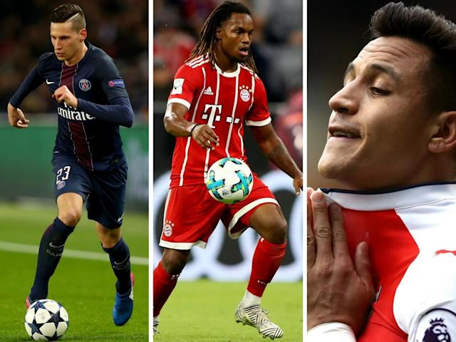 Draxler, Sanches and Sanchez – three players in BIG demand