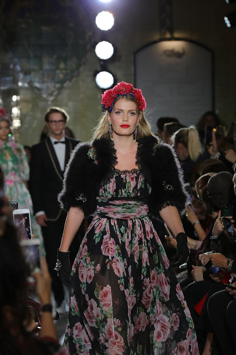Lady Kitty Spencer at the Dolce & Gabbana Italian Christmas at Harrods on Nov. 2 in London, England. (David M. Benett via Getty Images)