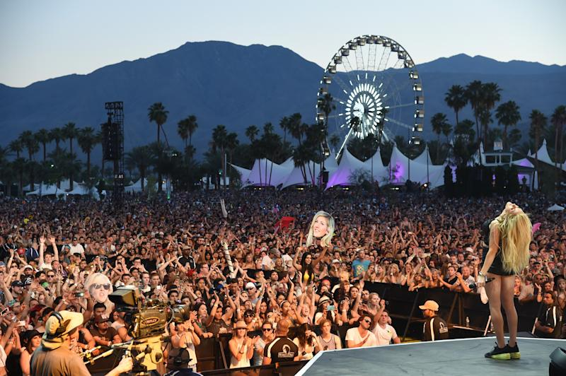 Ellie Goulding performs at the 2014 Coachella Valley Music and Arts Festival. (Photo: Filmagic)