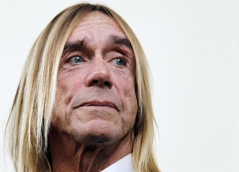 US singer Iggy Pop looks on during a press conference on May 9, 2012 in Paris (AFP Photo/Francois Guillot)