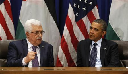 Obama meets Abbas at the United Nations in New York