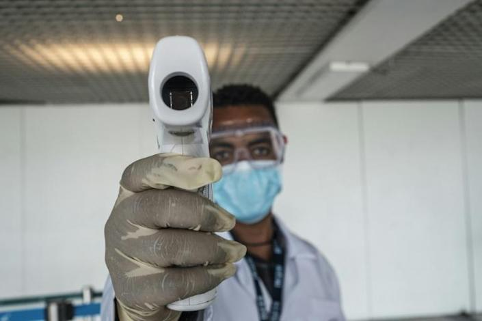 Fever check: Coronavirus cases are now rising fast in Ethiopia - prevention fatigue among the public is now the big fear (AFP Photo/EDUARDO SOTERAS)
