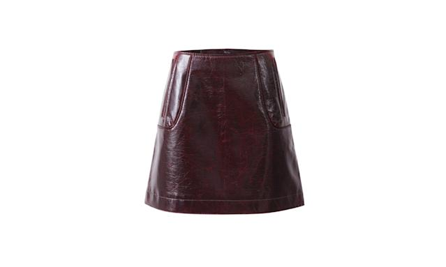"<p><i>Coated wool skirt, $70, <a href=""http://www.hm.com/us/product/71333?article=71333-A#campaign=CAMP_LADIES_STUDIO-AW2017-WOMEN&shopOrigin=CA&webShopOrigin=CA"" rel=""nofollow noopener"" target=""_blank"" data-ylk=""slk:hm.com."" class=""link rapid-noclick-resp"">hm.com.</a> (Photo courtesy of H&M) </i></p>"