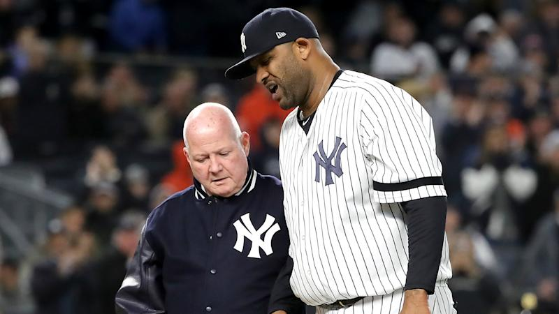 CC Sabathia removed from Yankees' ALCS roster