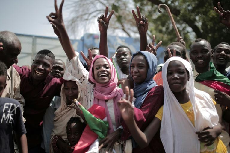 Sudanese women joined the huge crowds that celebrated the formation of a new civilian-majority ruling body last week but there is growing indignation over their under-representation in leadership roles (AFP Photo/Jean Marc MOJON)
