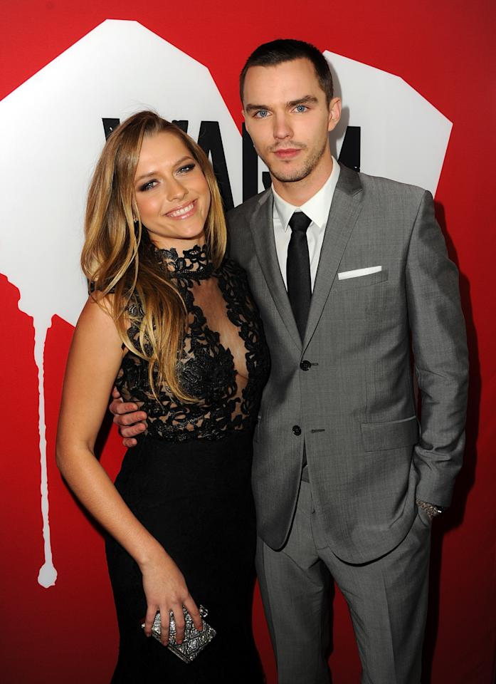 "HOLLYWOOD, CA - JANUARY 29:  Actors Teresa Palmer and Nicholas Hoult arrive for the Los Angeles premiere of Summit Entertainment's ""Warm Bodies"" at ArcLight Cinemas Cinerama Dome on January 29, 2013 in Hollywood, California.  (Photo by Kevin Winter/Getty Images)"