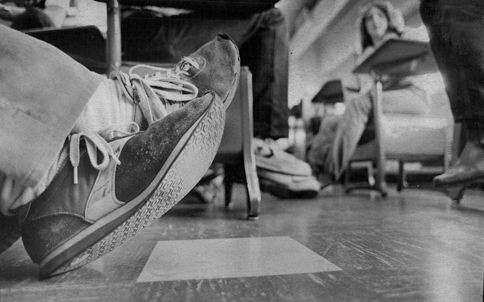 "<p>If you happen to have a couple 1972 Nike Waffle Racing Flat ""Moon Shoes"" stashed away in your basement you're in serious luck. In July a pair was sold for a hefty $475,500, becoming the <a href=""https://www.cnbc.com/2019/07/23/nike-waffle-shoe-becomes-the-most-expensive-sneakers-ever-auctioned.html"" rel=""nofollow noopener"" target=""_blank"" data-ylk=""slk:most expensive sneakers"" class=""link rapid-noclick-resp"">most expensive sneakers</a> ever auctioned. But even if your kicks aren't worth money, they still have value—think about donating them to an organization like <a href=""http://giveyoursole.org/"" rel=""nofollow noopener"" target=""_blank"" data-ylk=""slk:Give Your Sole"" class=""link rapid-noclick-resp"">Give Your Sole</a>, which will get them to someone in need.</p>"