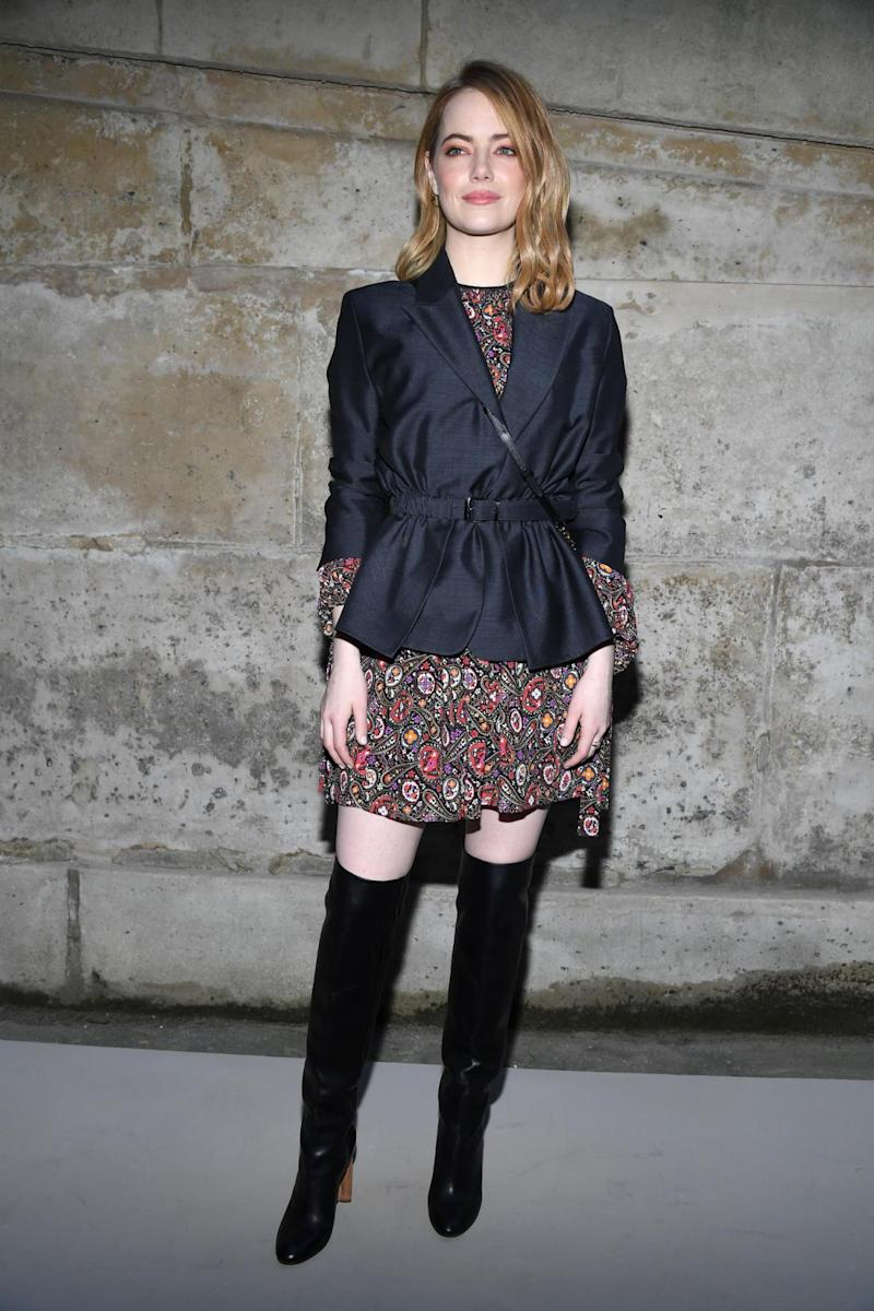 Emma Stone at Louis Vuitton (Getty Images)