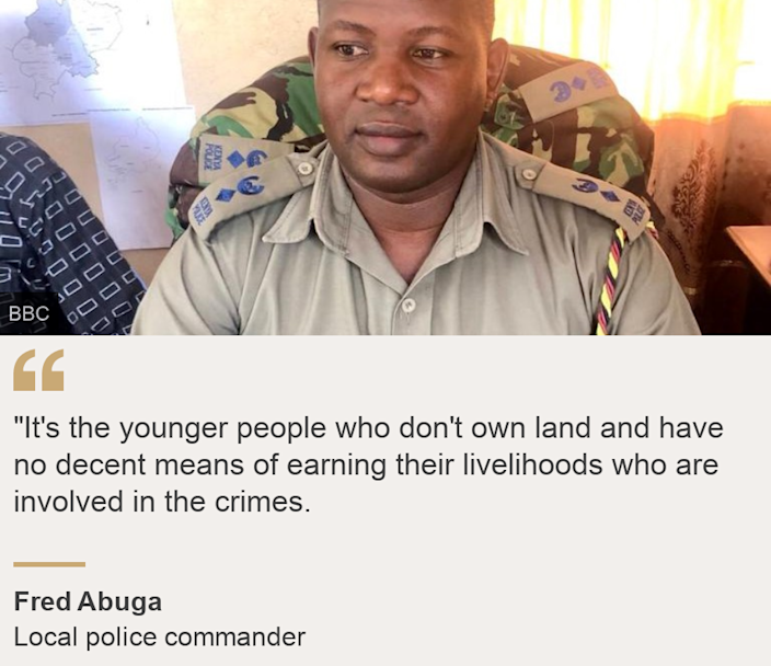 """""""""""It's the younger people who don't own land and have no decent means of earning their livelihoods who are involved in the crimes."""", Source: Fred Abuga, Source description: Local police commander, Image: Fred Abuga, police commander in Rabai, Kenya's coast region"""