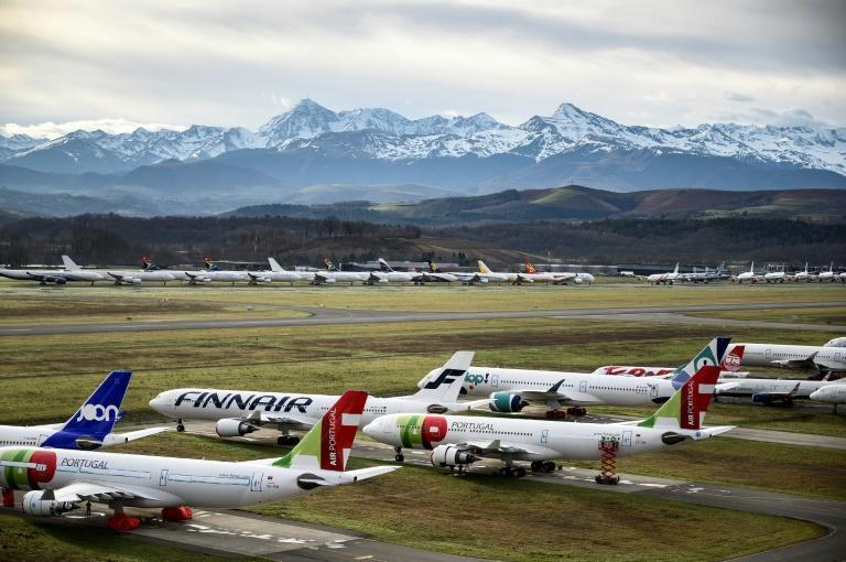 Airlines have parked thousands of planes as the Covid-19 pandemic has stifled international travel