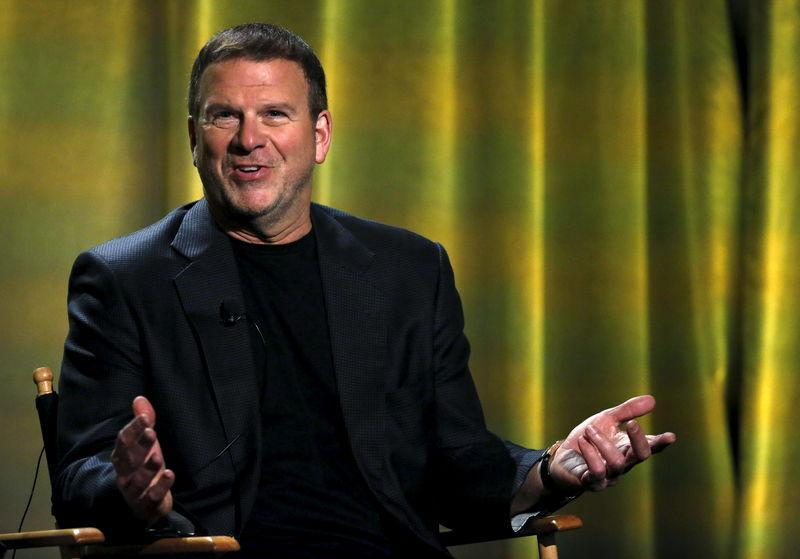 "FILE PHOTO: Tilman J. Fertitta speaks at a panel for the television series ""Billion Dollar Buyer"" during the NBCUniversal summer press day in Westlake Village, California, April 1, 2016. REUTERS/Mario Anzuoni"
