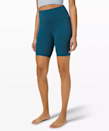 """""""I first bought these shorts for spinning, but they quickly became a go-to for running. They're snug enough to 'hug me in' but lightweight enough that they're not restraining. They also come in several lengths, so the fit is comfortable depending on height or length preference. They've become a closet staple as bike shorts have grown in popularity, and even pair well with a top or sweatshirt for a post-workout coffee or brunch."""" - <em>S.P.</em> $58, lululemon. <a href=""""https://shop.lululemon.com/p/women-shorts/Align-Short-8-MD/_/prod10120006"""" rel=""""nofollow noopener"""" target=""""_blank"""" data-ylk=""""slk:Get it now!"""" class=""""link rapid-noclick-resp"""">Get it now!</a>"""