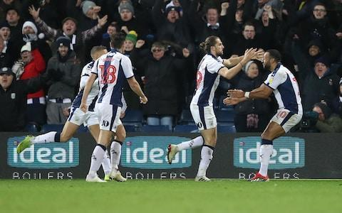 <span>&nbsp;Jay Rodriguez celebrates scoring a stoppage time equaliser&nbsp;</span> <span>Credit: PA </span>